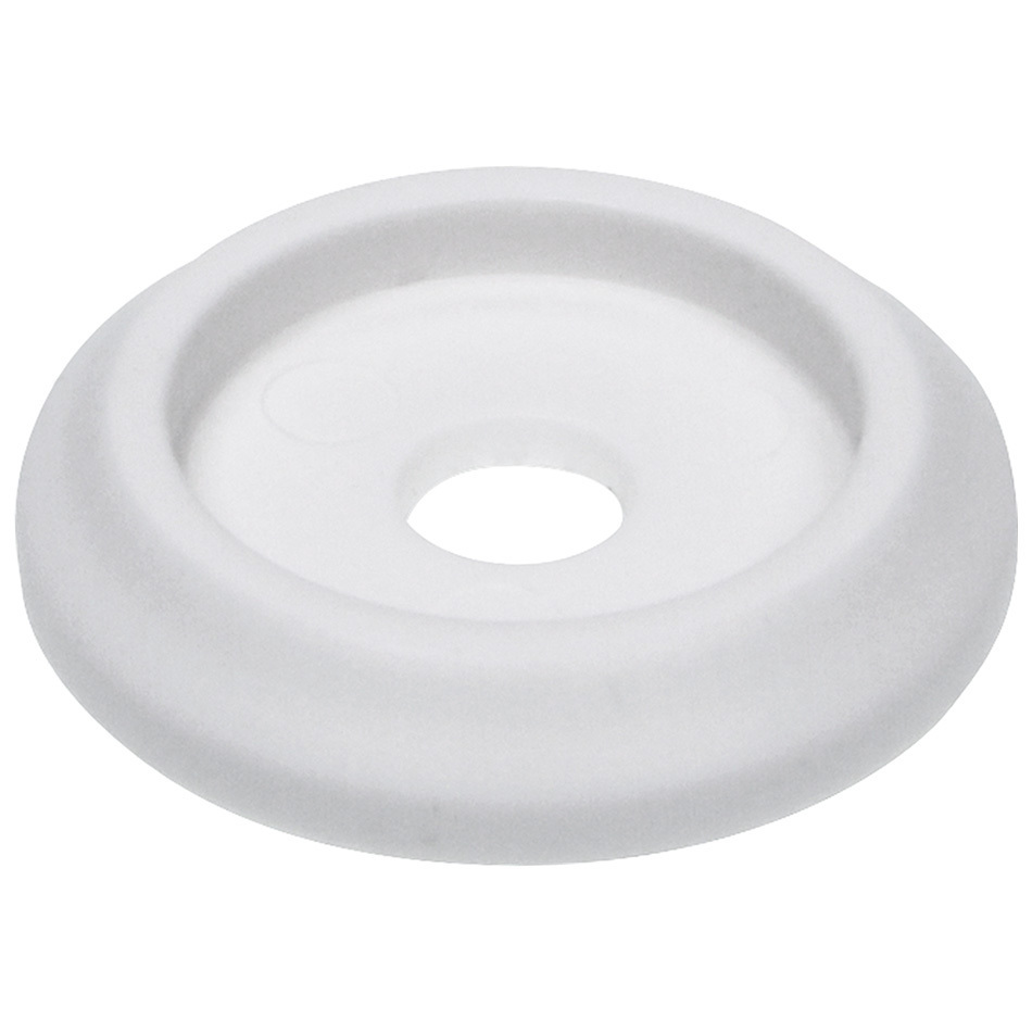 Allstar Performance 18846 Body Bolt Washer, Countersunk, 1/4 in ID, 1-1/4 in OD, Plastic, White, Set of 10