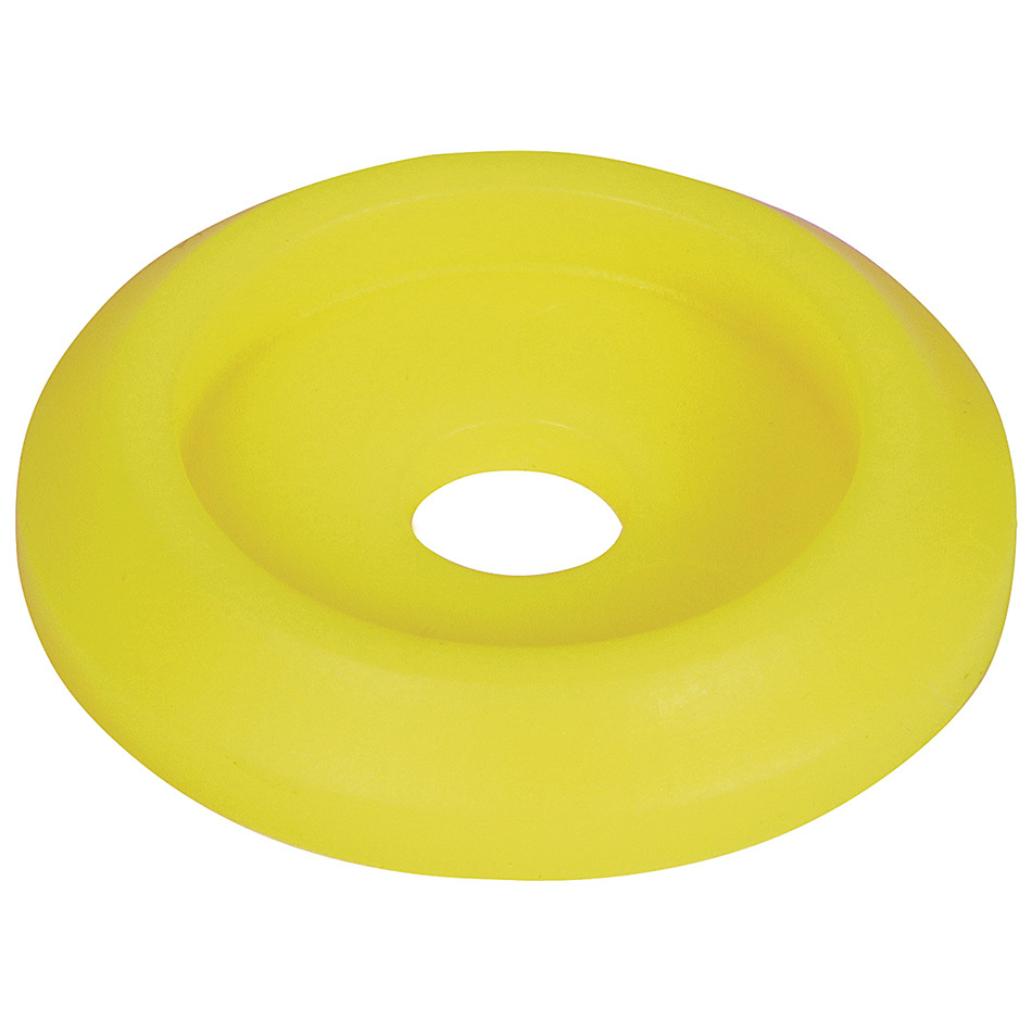 Allstar Performance 18853-50 Body Bolt Washer, Countersunk, 1/4 in ID, 1 in OD, Plastic, Neon Yellow, Set of 50