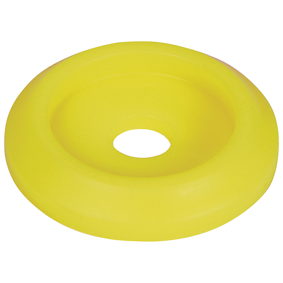 Allstar Performance 18853 Body Bolt Washer, Countersunk, 1/4 in ID, 1 in OD, Plastic, Neon Yellow, Set of 10