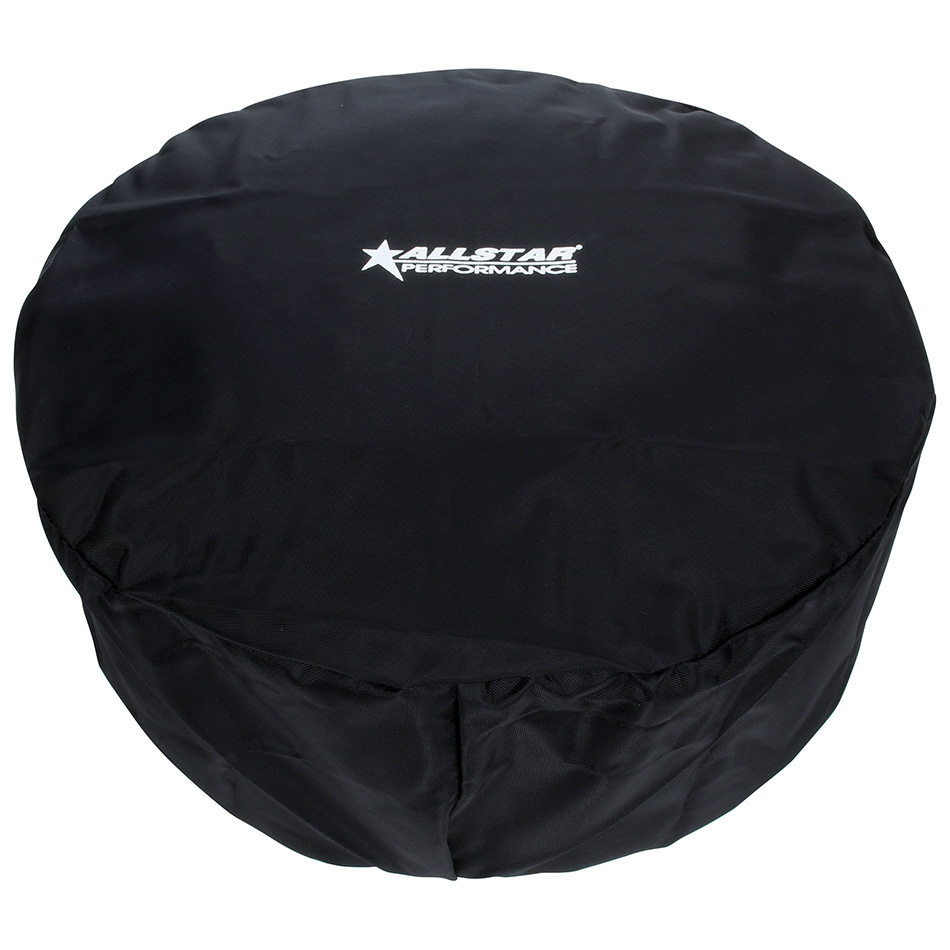 Allstar Performance 26230 Air Filter Wrap, Water Repellent Cover, 14 in OD, 3 to 6 in Tall, Top Cover, Polyester, Black, Allstar 14 in Washable Filters, Each