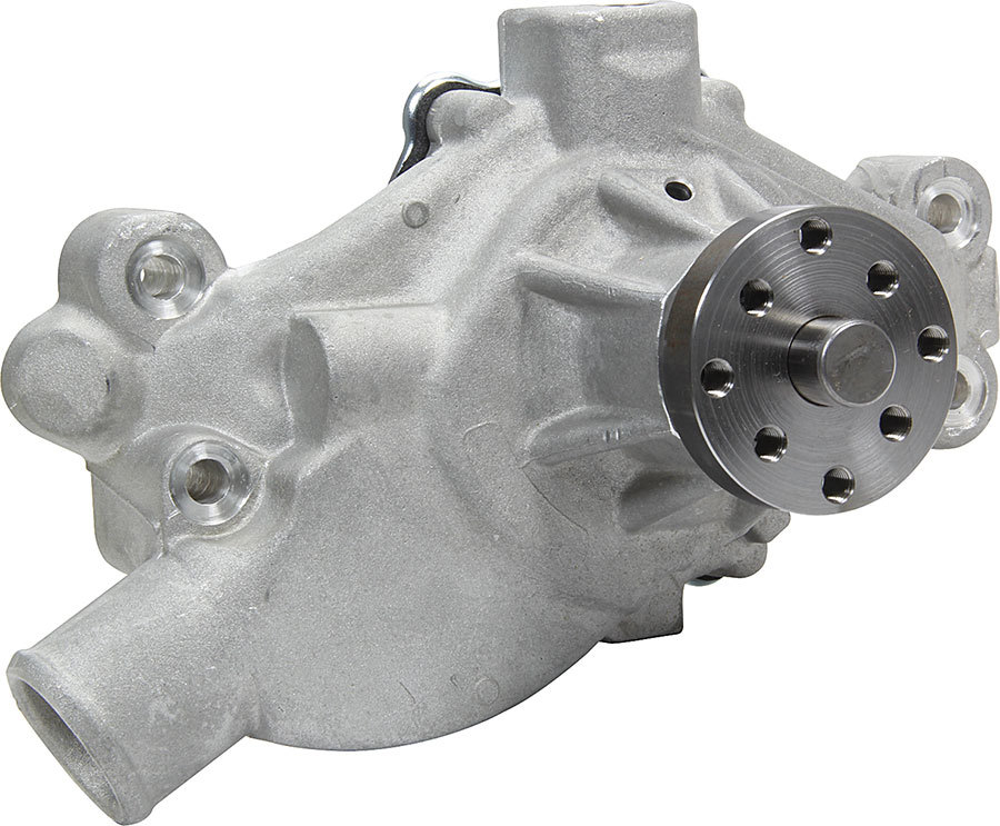 Allstar Performance 31105 Water Pump, Mechanical, 3/4 in Pilot, Short Design, Aluminum, Natural, Small Block Chevy, Each