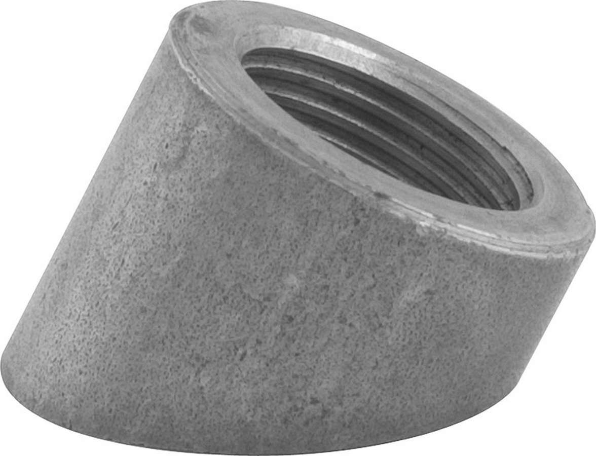 Allstar Performance 34152 Oxygen Sensor Bung, Weld-On, 45 Degree Angle, 18 mm x 1.50 Female Threads, Steel, Natural, Each