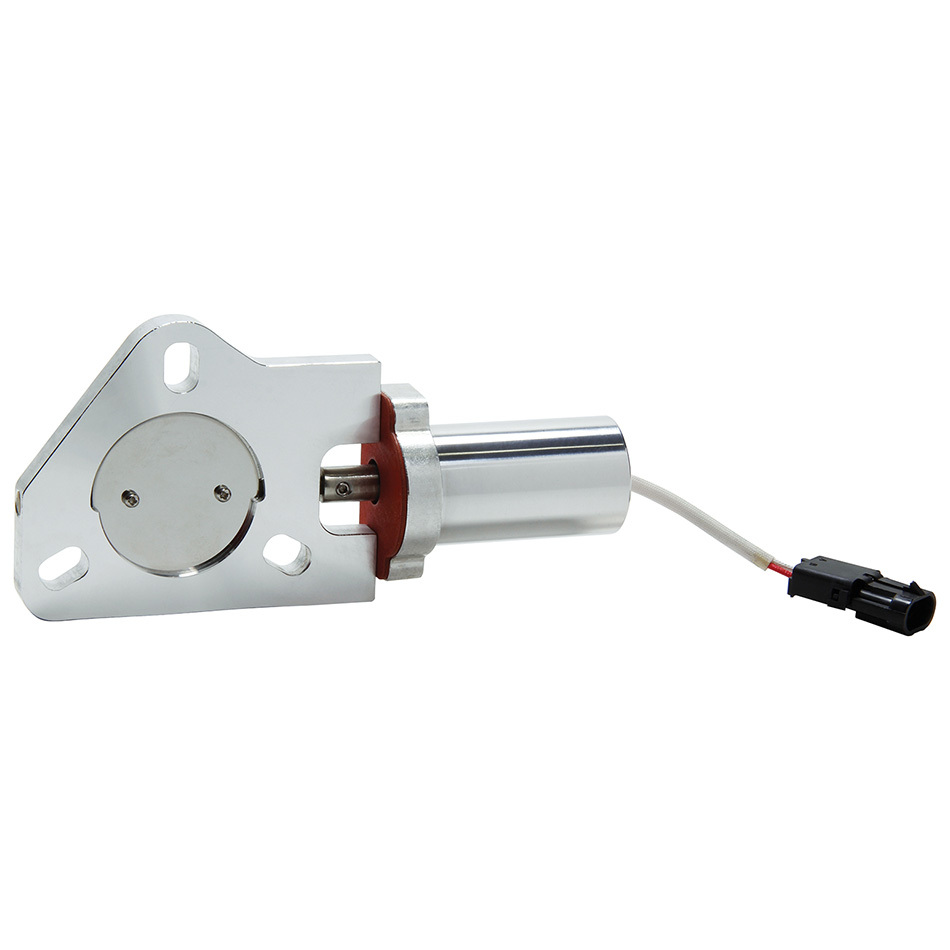 Allstar Performance 34231 Exhaust Cut-Out, Electric, Bolt-On, 2-1/2 in Pipe Diameter, Aluminum, Natural, Each