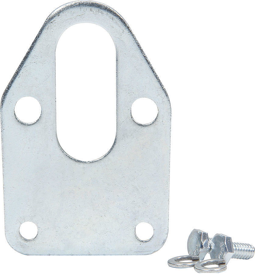 Allstar Performance 40254 Fuel Pump Mounting Plate, Steel, Clear Zinc, Small Block Chevy, Each