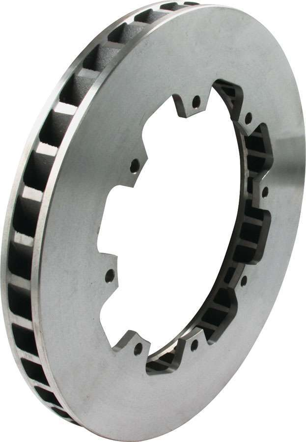 Allstar Performance 42000 Brake Rotor, Driver Side, 36 Vane, Directional / Plain, 11.750 in OD, 1.250 in Thick, 8 x 7.000 in Bolt Pattern, Iron, Natural, Each