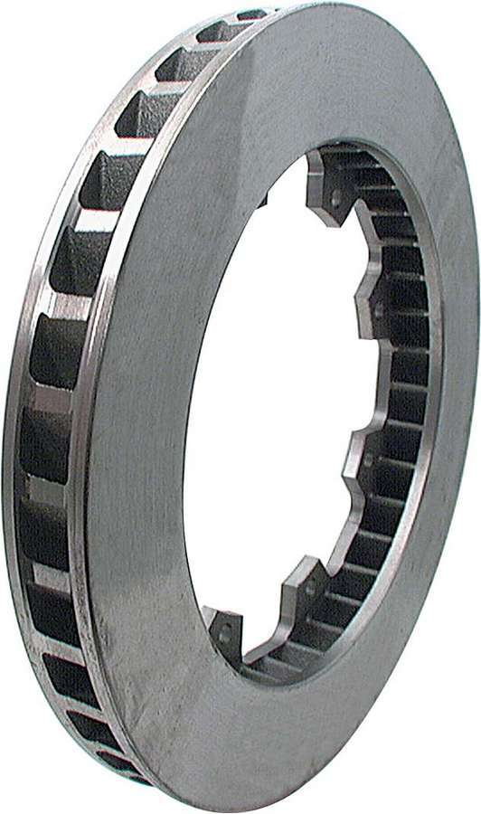 Allstar Performance 42001 Brake Rotor, 36 Vane, Passenger Side, Directional / Plain, 11.750 in OD, 1.250 in Thick, 8 x 7.000 in Bolt Pattern, Iron, Natural, Each