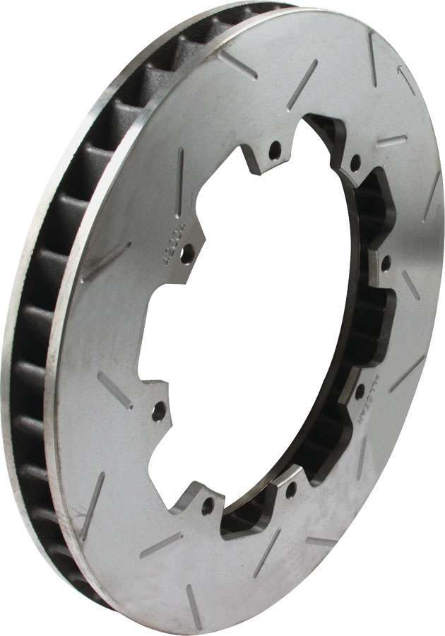 Allstar Performance 42004 Brake Rotor, Driver Side, 40 Vane, Directional / Slotted, 11.750 in OD, 1.250 in Thick, 8 x 7.000 in Bolt Pattern, Iron, Natural, Each