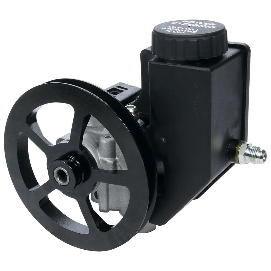 Allstar Performance 48245 Power Steering Pump, GM Type 2, 3 gpm, 1300 psi, Integral Reservoir / V-Belt Pulley, Kit