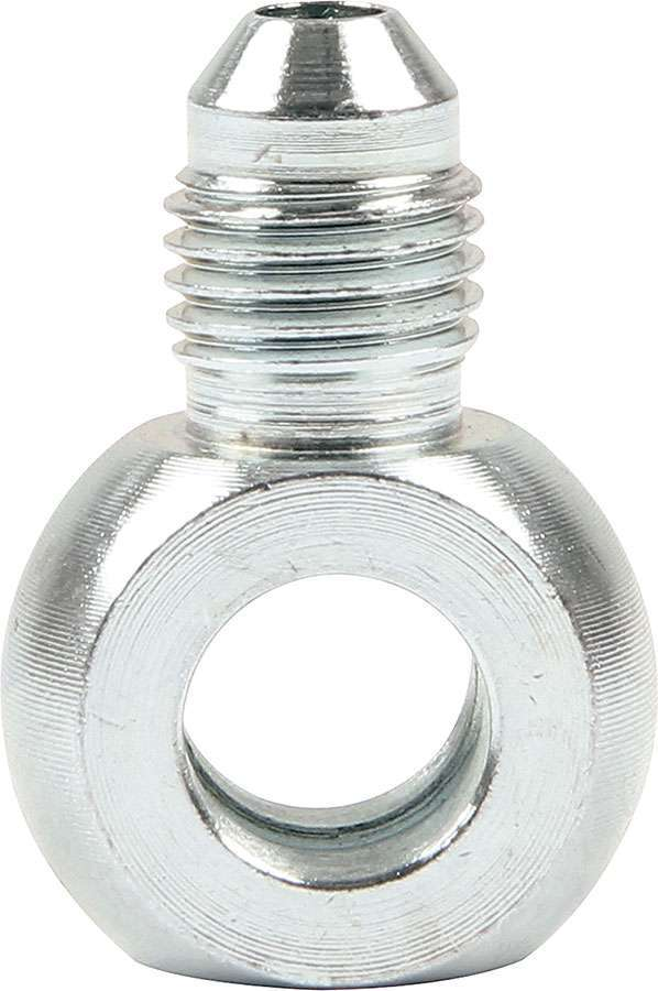 Allstar Performance 50061 Fitting, Adapter Banjo, Straight, 4 AN Male to 3/8 in Banjo, Steel, Zinc Oxide, Pair