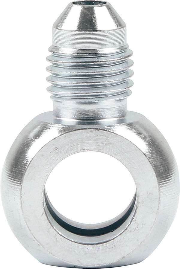 Allstar Performance 50063 Fitting, Adapter Banjo, Straight, 4 AN Male to 7/16 in Banjo, Steel, Zinc Oxide, Pair