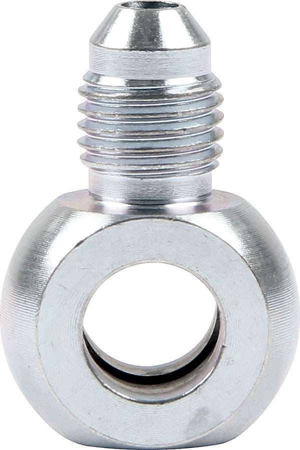 Allstar Performance 50068 Fitting, Adapter Banjo, Straight, 4 AN Male to 10 mm Banjo, Steel, Zinc Oxide, Pair