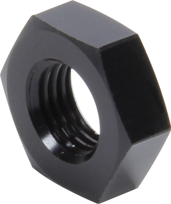 Allstar Performance 50098-10 Bulkhead Fitting Nut, 3 AN, Aluminum, Black Anodize, Set of 10