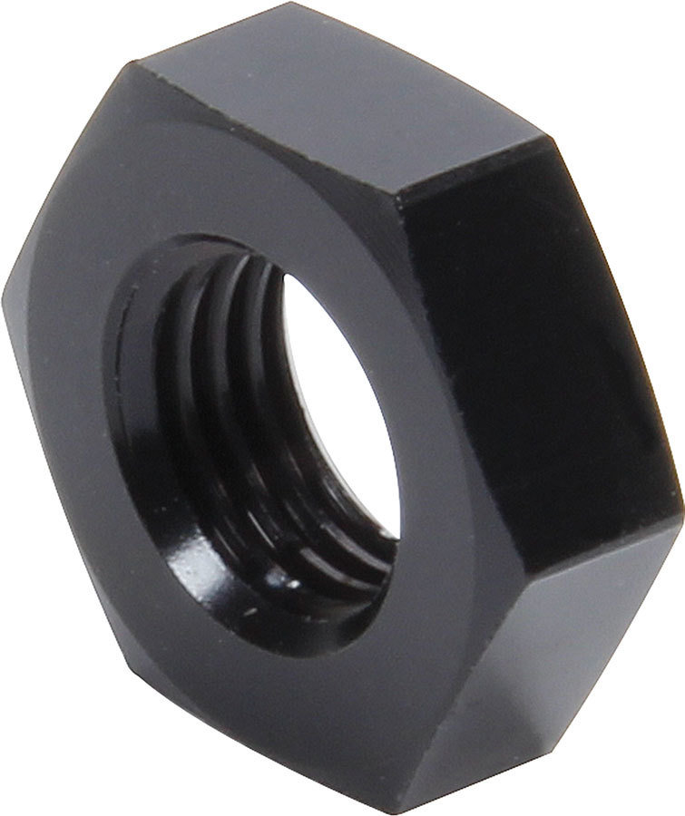 Allstar Performance 50098 Bulkhead Fitting Nut, 3 AN, Aluminum, Black Anodized, Pair