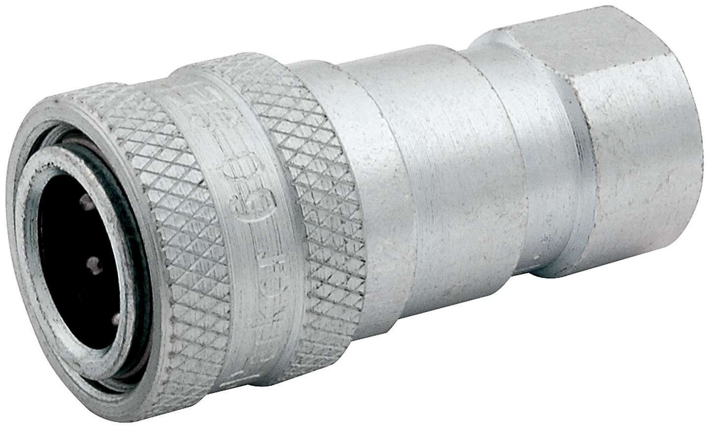 Allstar Performance 50217 Fitting, Quick Disconnect, Female Half to 1/8 in NPT Female, Steel, Zinc Plated, Each