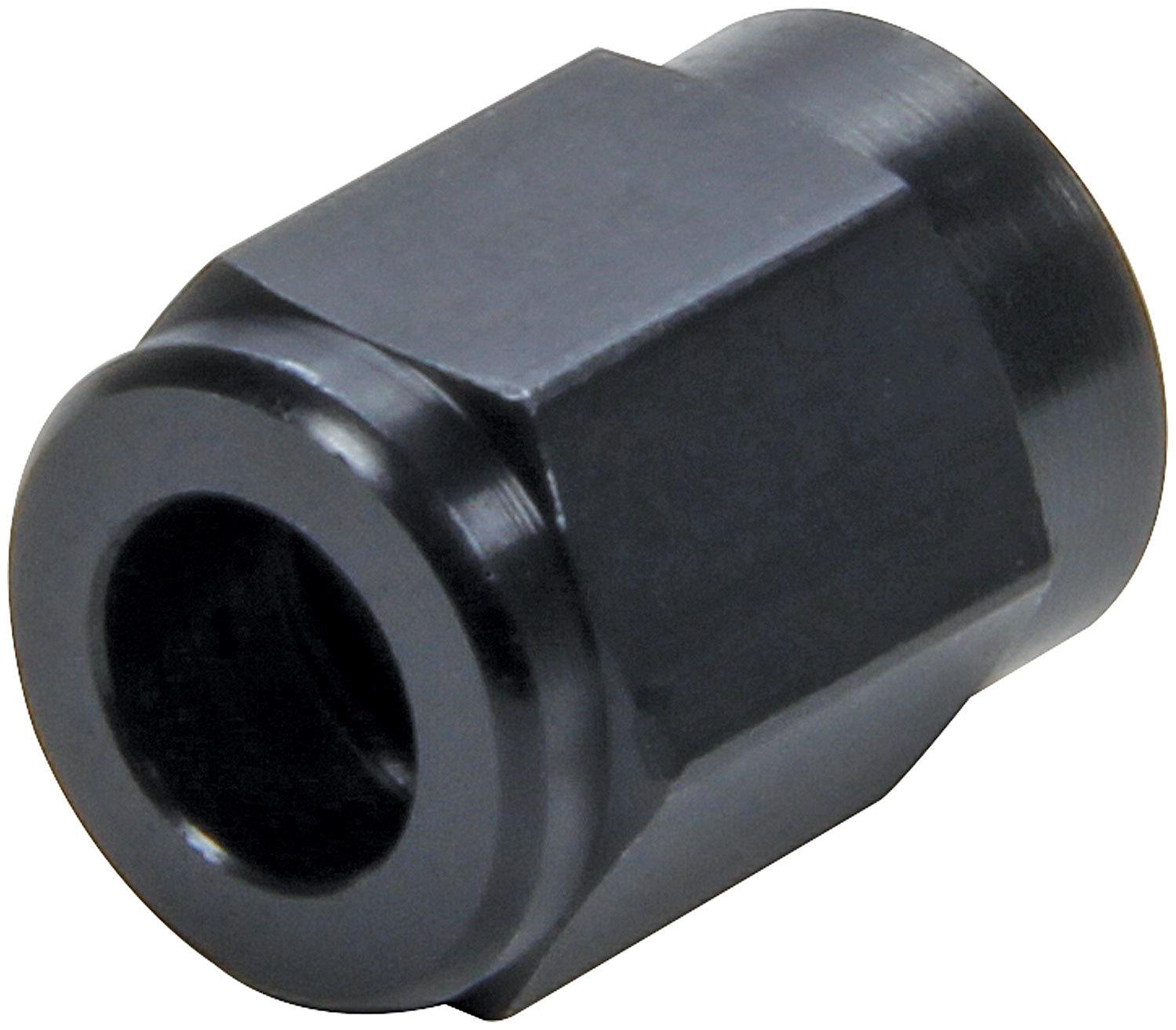 Allstar Performance 50320 Fitting, Tube Nut, 3 AN, 3/16 in Tube, Aluminum, Black Anodize, Pair