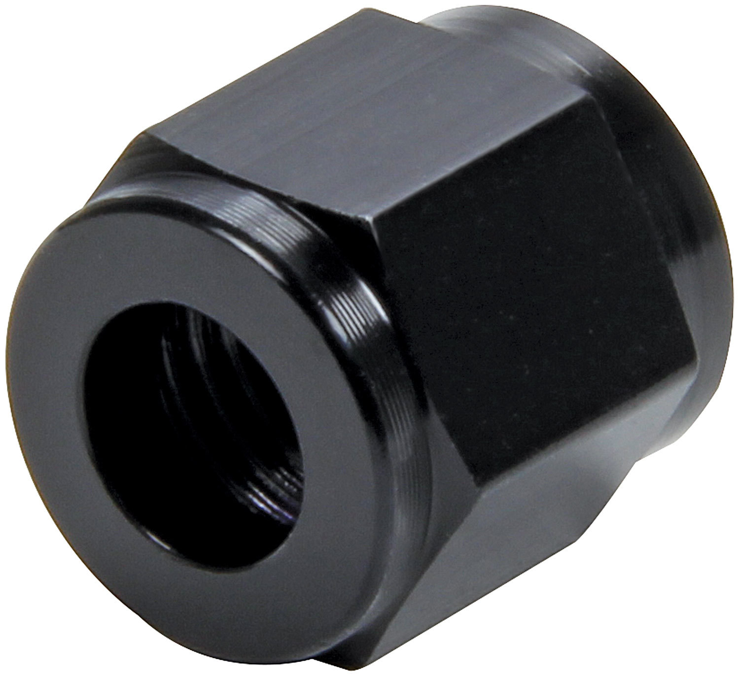 Allstar Performance 50321-20 Fitting, Tube Nut, 4 AN, 1/4 in Tube, Aluminum, Black Anodize, Set of 20