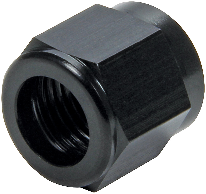 Allstar Performance 50322 Fitting, Tube Nut, 6 AN, 3/8 in Tube, Aluminum, Black Anodize, Pair