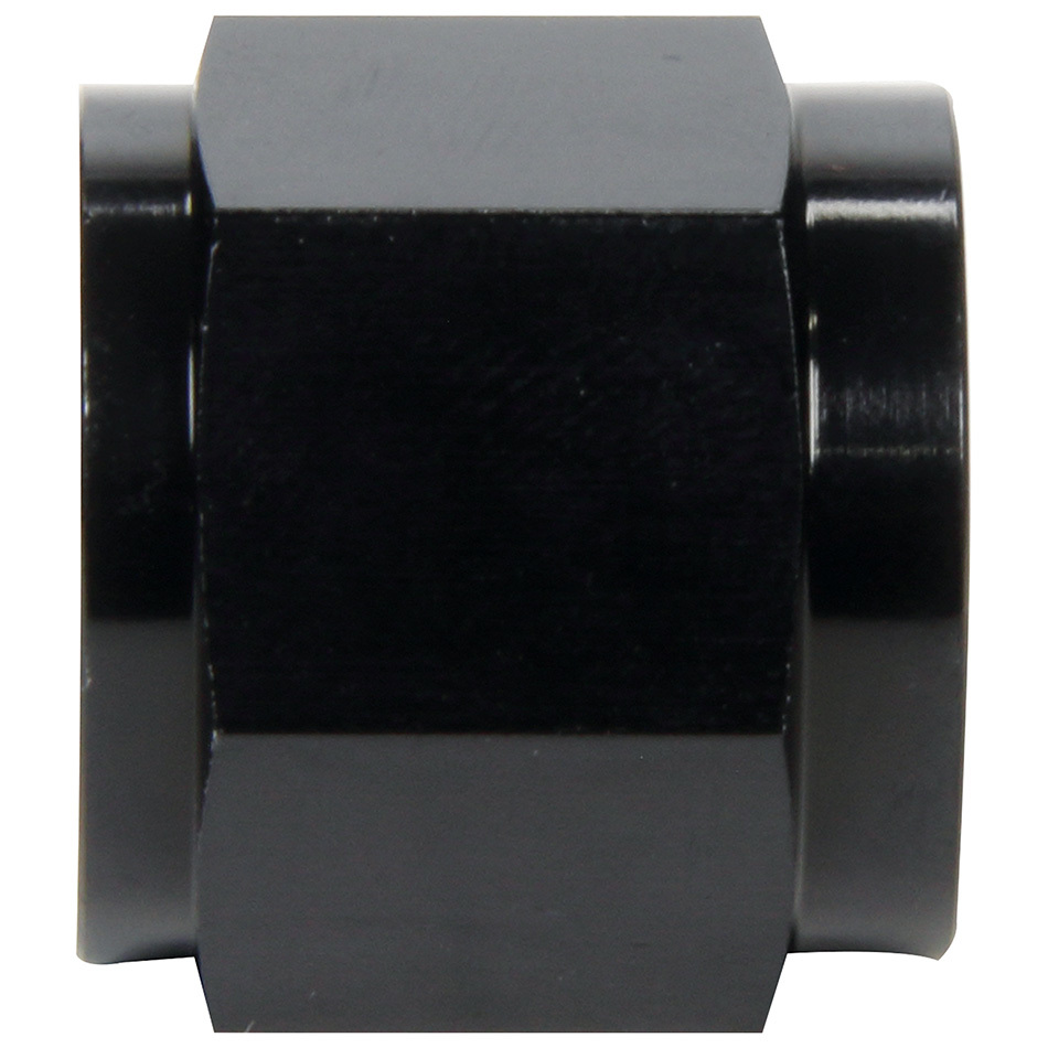 Allstar Performance 50323 Fitting, Tube Nut, 8 AN, 1/2 in Tube, Aluminum, Black Anodize, Pair