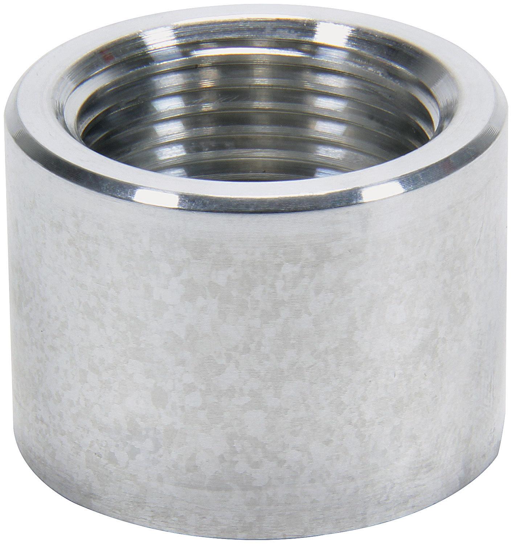 Allstar 50743 Bung, 1/2 in NPT Female, Weld-On, Aluminum, Natural, Each