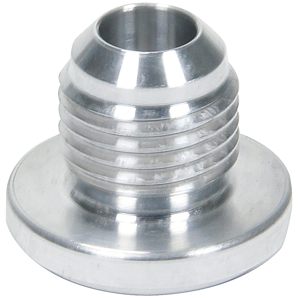 Allstar Performance 50760 Bung, 4 AN Male, Weld-On, Aluminum, Natural, Each