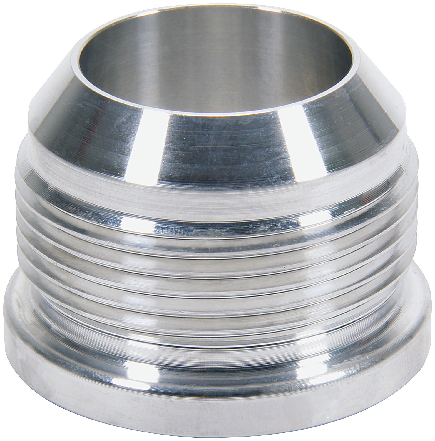 Allstar Performance 50763 Bung, 10 AN Male, Weld-On, Aluminum, Natural, Each