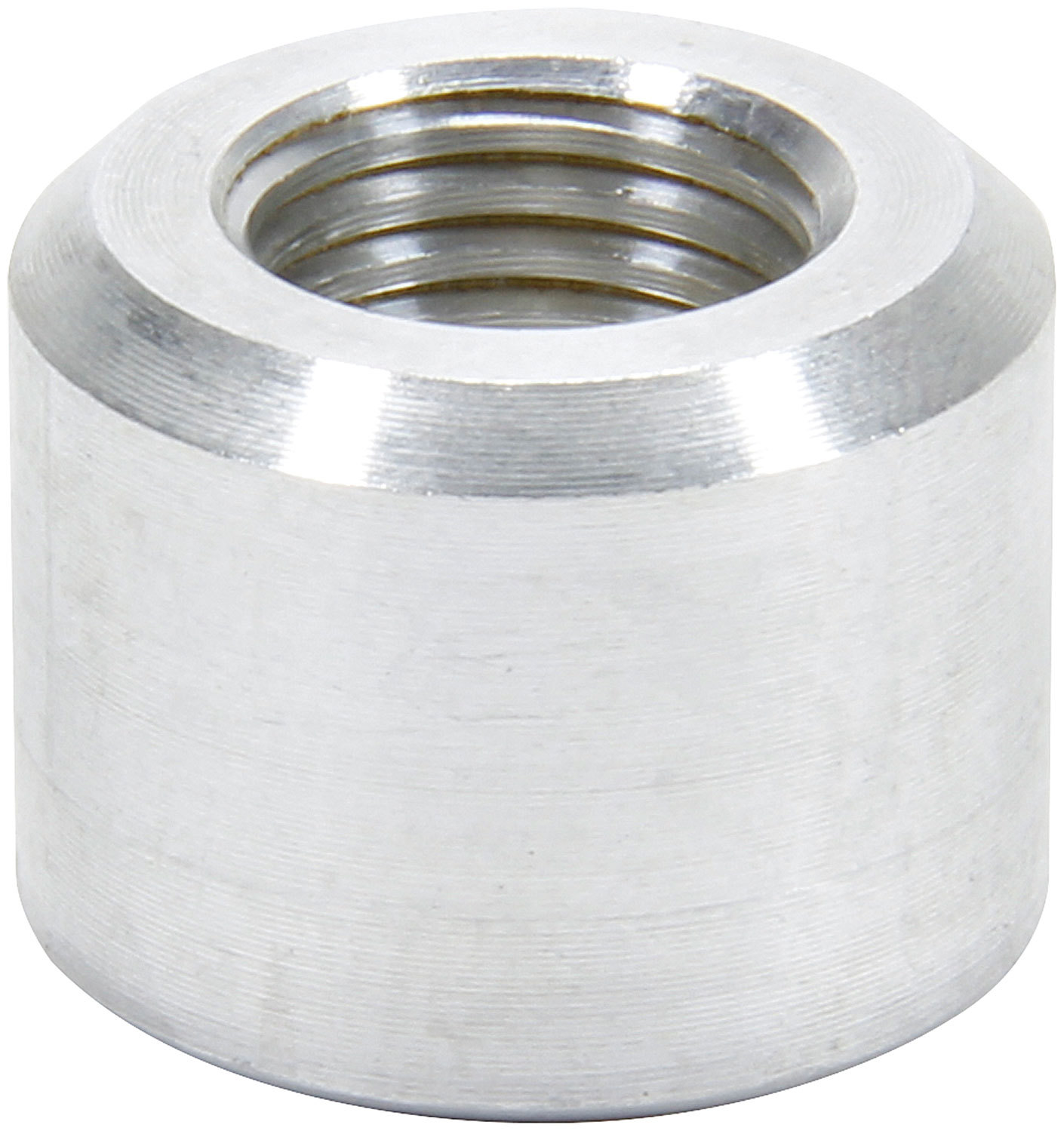 Allstar Performance 50781 Bung, 6 AN Female O-Ring, Weld-On, Aluminum, Natural, Each