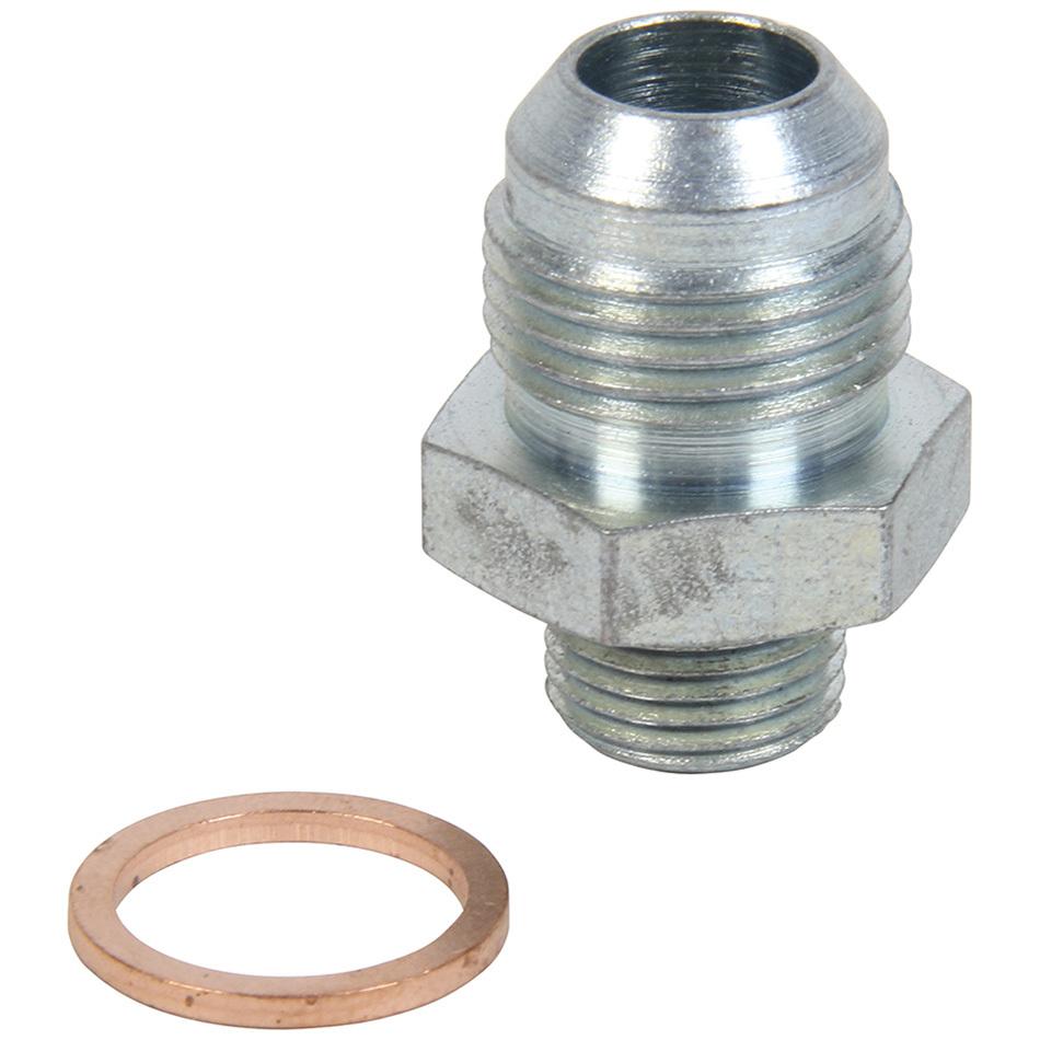 Allstar 50916 Fitting, Adapter, Straight, 10 AN Male to 3/8 in NPT Male, Steel, Zinc Oxide, Each