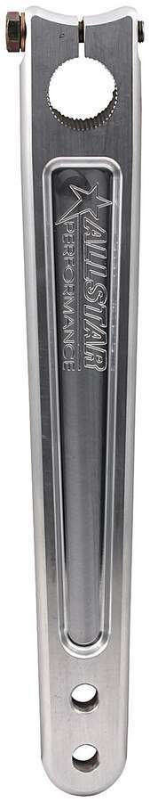 Allstar Performance 55033 Pitman Arm, 9-3/4 to 10-3/4 in Long, Straight, Aluminum, Clear Anodized, Sprint Car, Each
