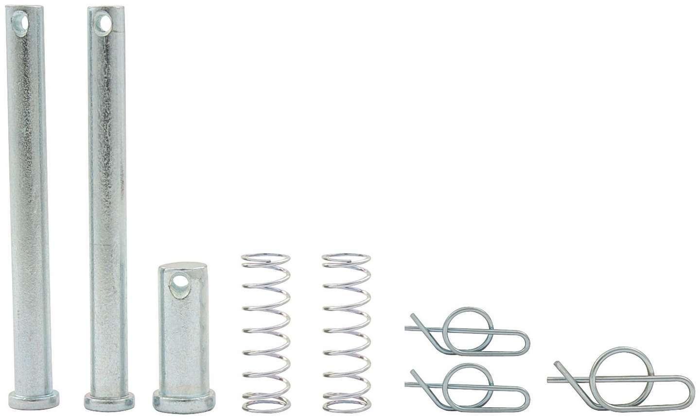 Allstar Performance 55094 Jacobs Ladder Pin, 1/2 in Diameter, 1-1/2 in Long, Clips/Springs, Steel, Zinc Oxide, Sprint Car, Kit