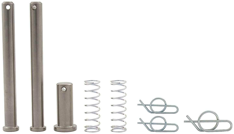 Allstar Performance 55096 Jacobs Ladder Pin, 1/2 in Diameter, 1-1/2 in Long, Clips/Springs, Titanium, Natural, Sprint Car, Kit