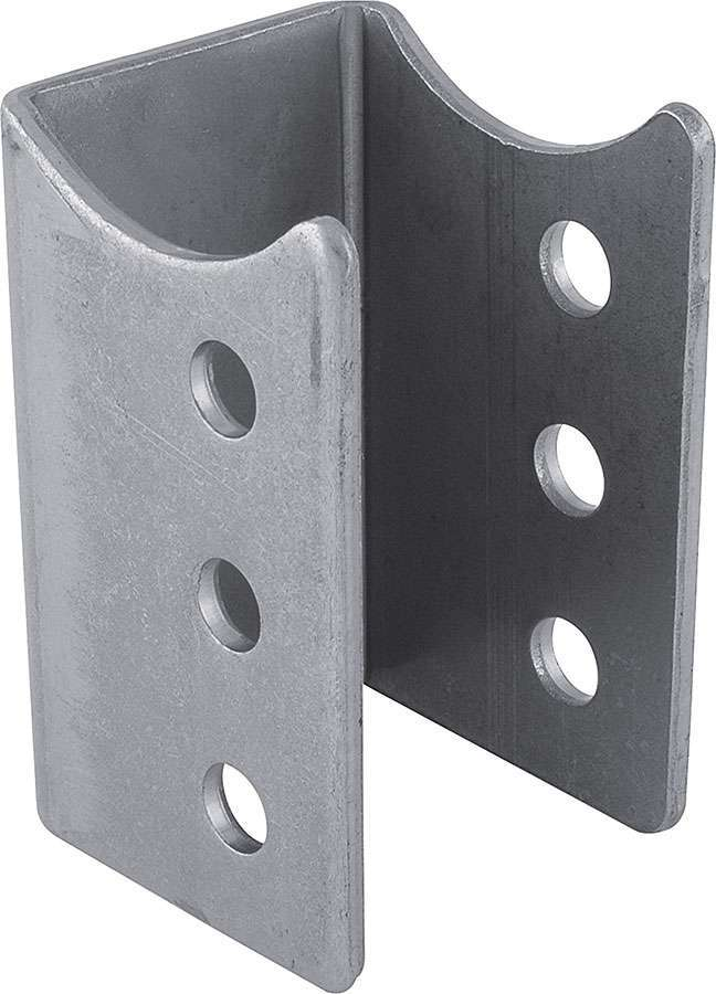 Allstar Performance 60050 Trailing Arm Bracket, Lower, Weld-On, 3 in OD Axle Tubes, Steel, Natural, Each