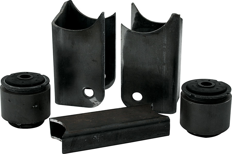 Allstar Performance 60053 Trailing Arm Bracket, Lowered, Lower / Upper, 3 in OD Axle Tubes, 1 Hole, Steel, Black Paint, GM G-Body Chassis, Kit