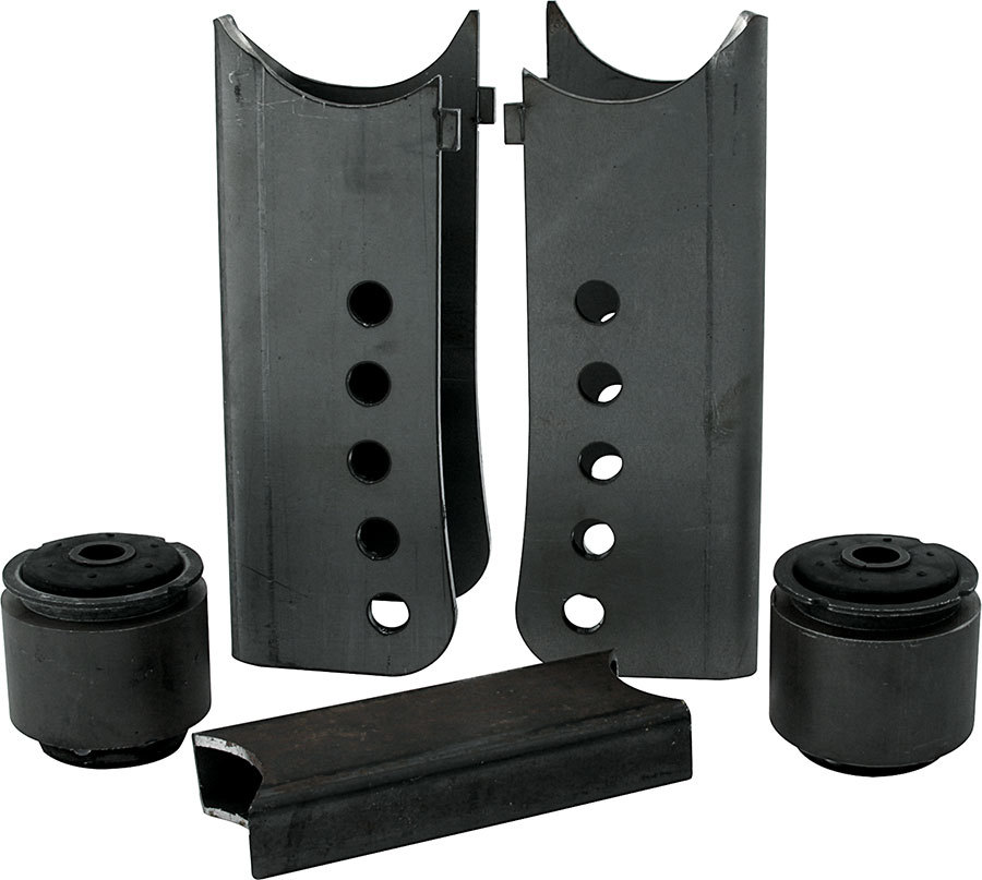 Allstar Performance 60054 Trailing Arm Bracket, Lower / Upper, 3 in OD Axle Tubes, 5 Hole, Steel, Black Paint, GM G-Body Chassis, Kit