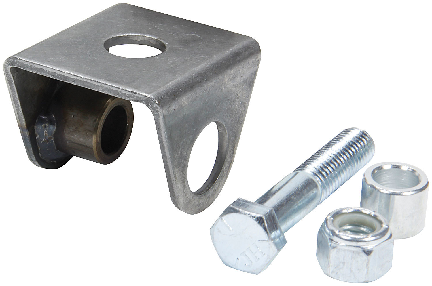 Allstar Performance 60106 Shock Mount, Wide, Weld-On, Flat Mount, Straight, Steel, Natural, Universal, Each