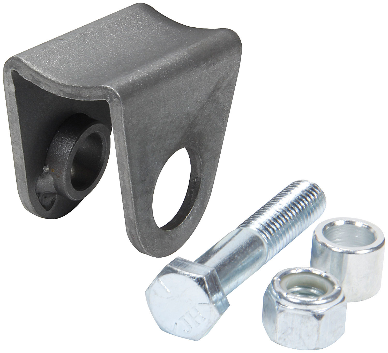 Allstar Performance 60107 Shock Mount, Narrow, Weld-On, Radius Mount, Straight, Steel, Natural, Universal, Each