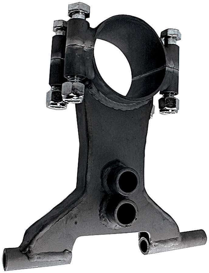 Allstar Performance 60136 Trailing Arm Bracket, Lower, Clamp-On, 3 in OD Axle Tubes, Coil-Over Eliminator / Shock Mount, 3/4 in Holes, Steel, Black Powder Coat, Each