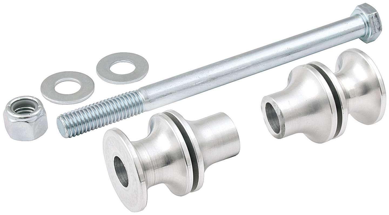 Allstar Performance 60159 Shock Spacer Kit, 90/10, Bolt/Nut/Spacers, Aluminum, Natural, Kit
