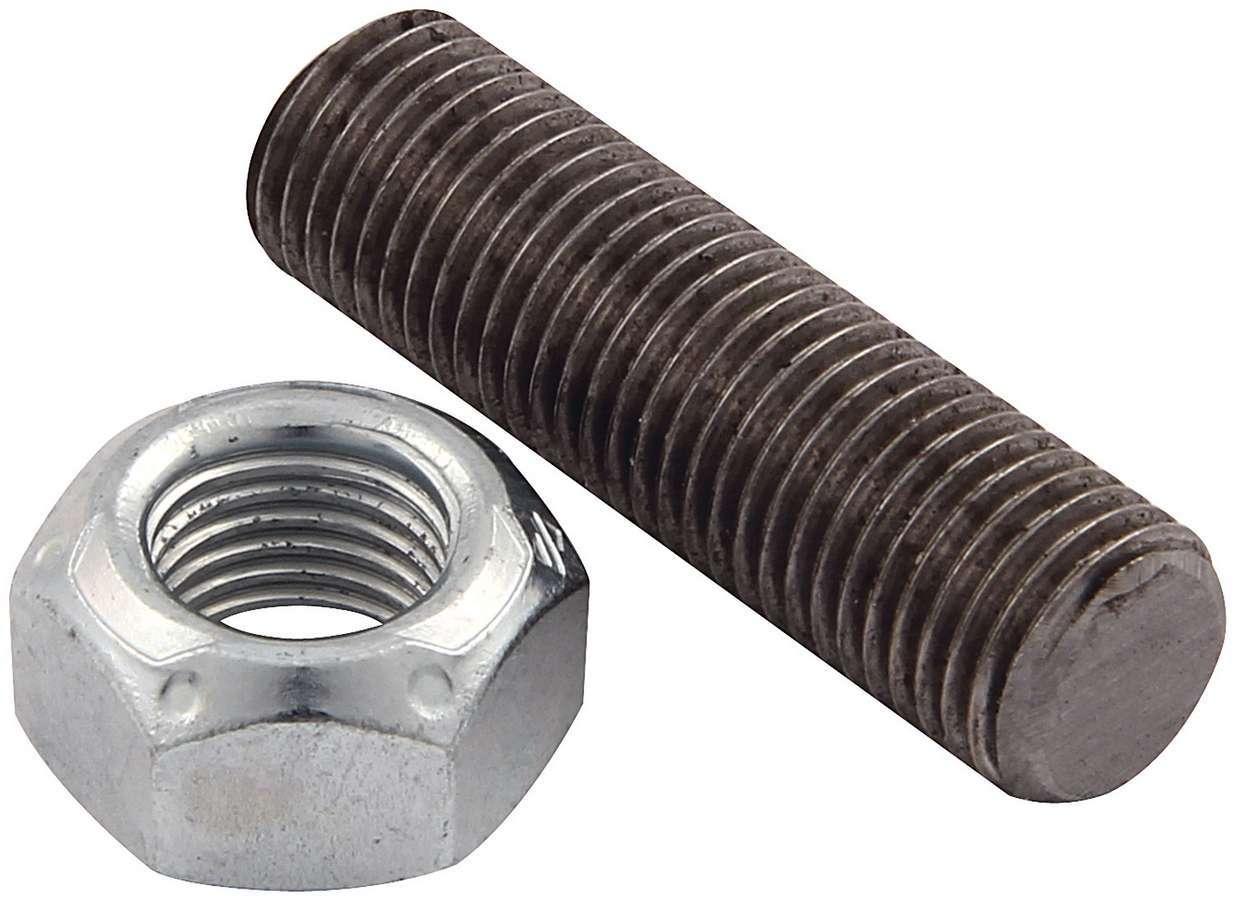 Allstar Performance 64304 Suspension Limiter Stud, 7/16-20 in Thread, 1.563 in Long, Hex Nut / Jam Nut, Chromoly, Zinc Oxide, Kit