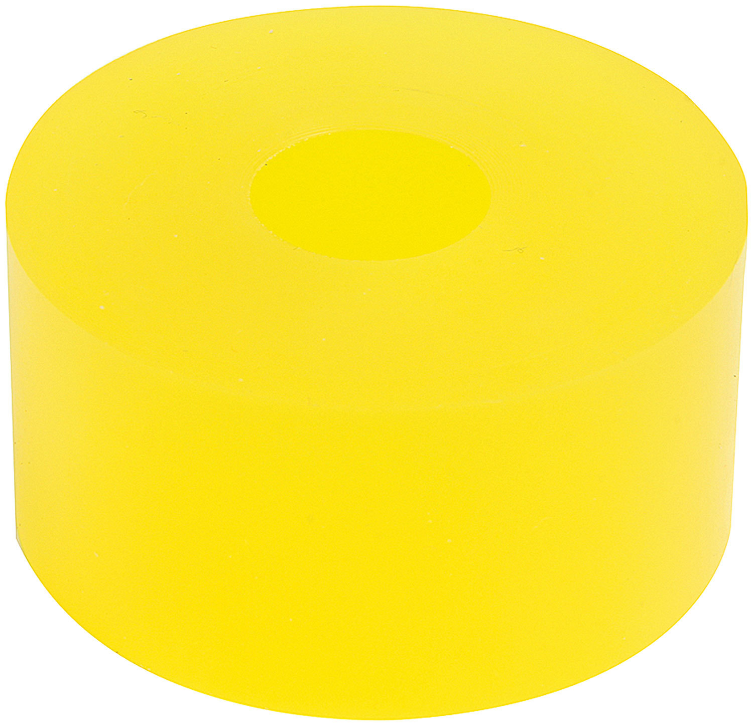 Allstar Performance 64386 Bump Stop Puck, 2 in OD, 1/2 in ID, 1 in Tall, 75 Durometer, Polyurethane, Yellow, 14 mm Shocks, Each