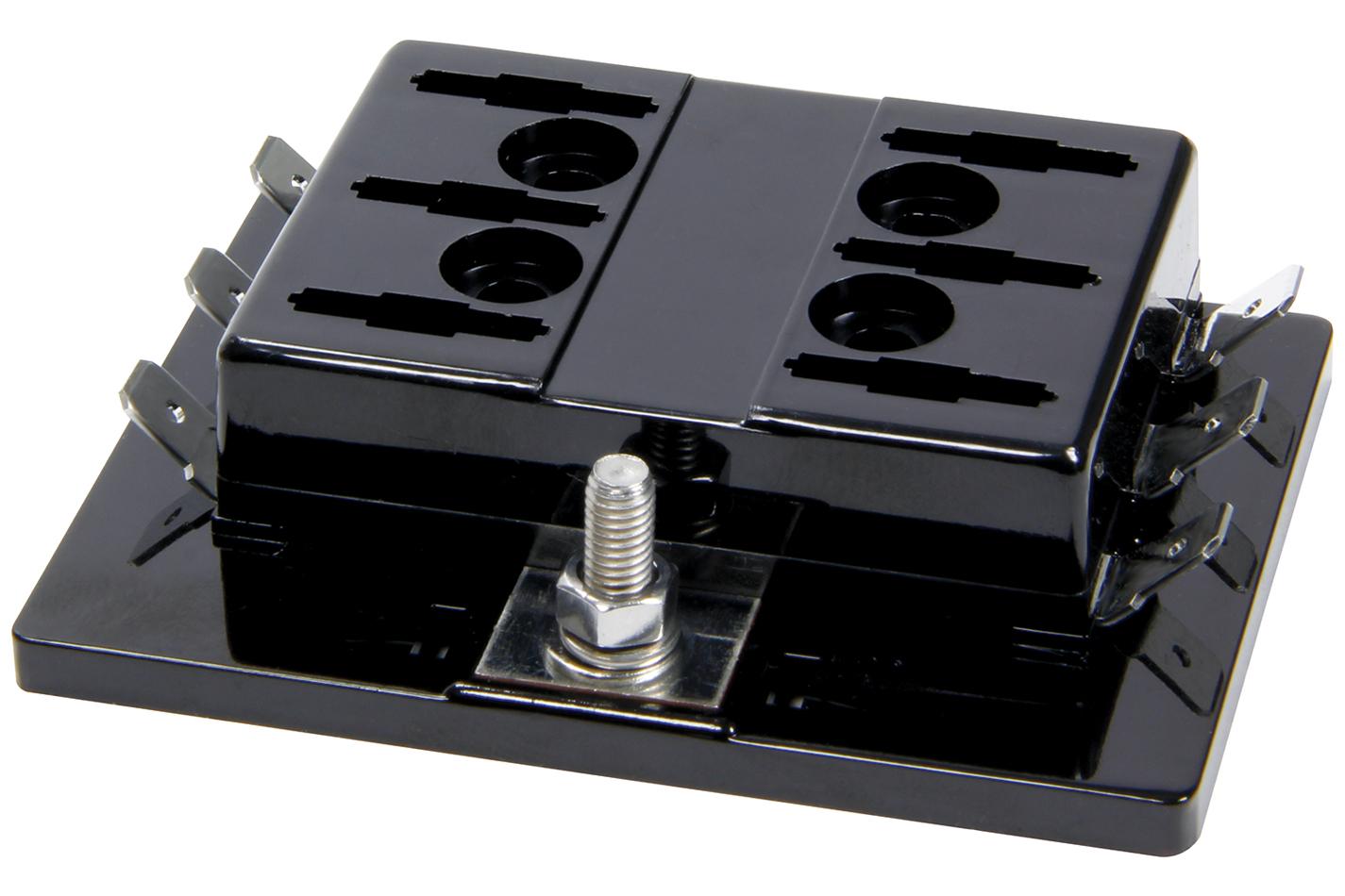 Allstar Performance 76180 Fuse Block, Auxiliary, 6 Circuit, Universal, Each
