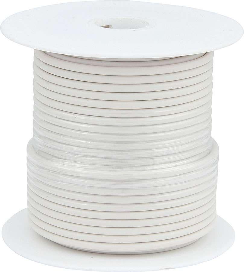 Allstar Performance 76512 Wire, 20 Gauge, 100 ft Roll, Plastic Insulation, Copper, White, Each