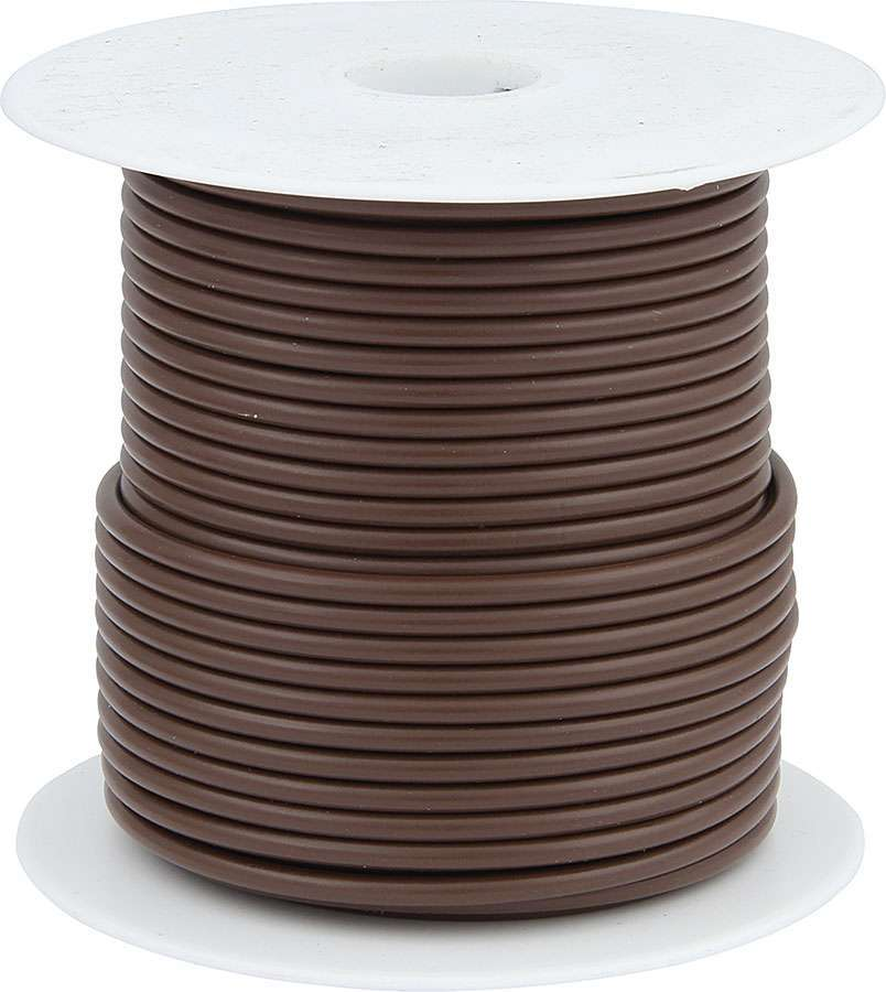 Allstar Performance 76515 Wire, 20 Gauge, 100 ft Roll, Plastic Insulation, Copper, Brown, Each