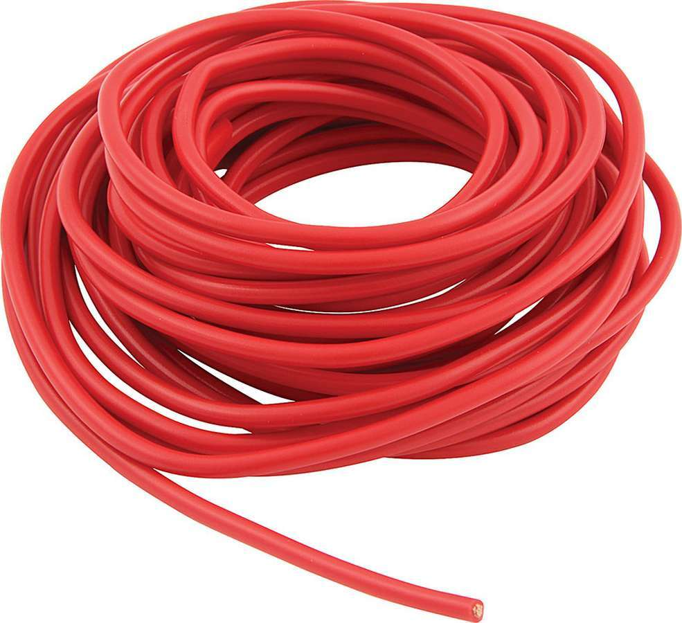 Allstar Performance 76540 Wire, 14 Gauge, 20 ft Roll, Plastic Insulation, Copper, Red, Each