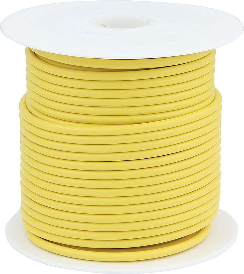 Allstar Performance 76554 Wire, 14 Gauge, 100 ft Roll, Plastic Insulation, Copper, Yellow, Each