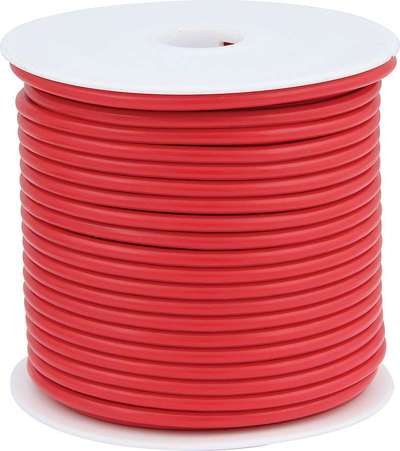Allstar Performance 76575 Wire, 10 Gauge, 75 ft Roll, Plastic Insulation, Copper, Red, Each