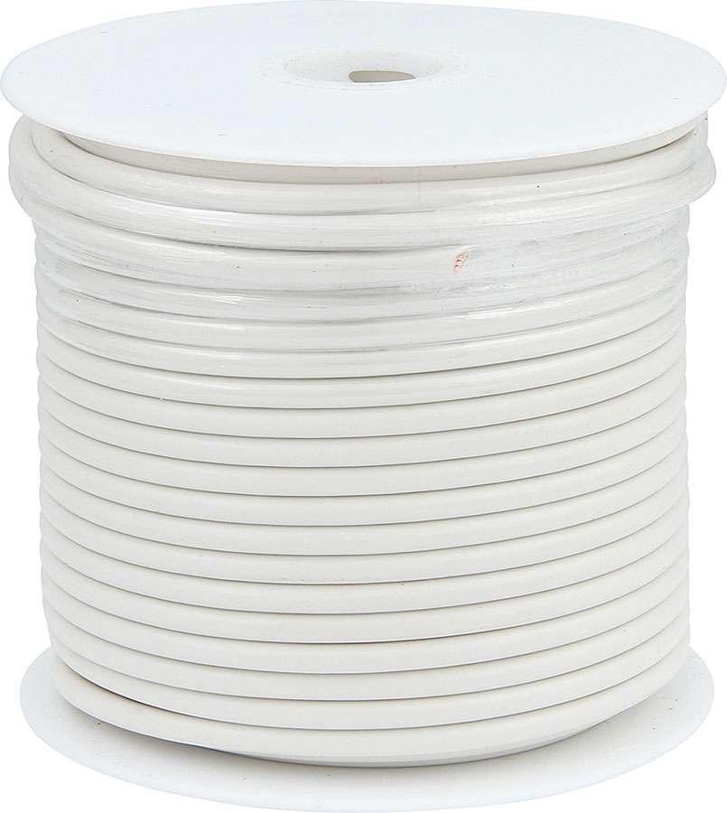 Allstar Performance 76577 Wire, 10 Gauge, 75 ft Roll, Plastic Insulation, Copper, White, Each