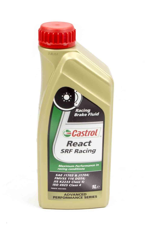 Allstar Performance 78115 Brake Fluid, Castrol SRF React, DOT 4, 33.8 oz Bottle, Each