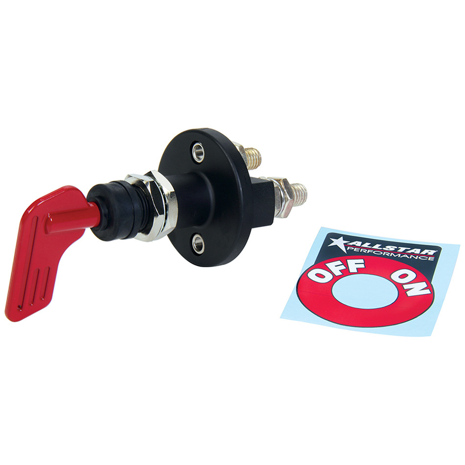 Allstar Performance 80152 Battery Disconnect with Decal Key Style