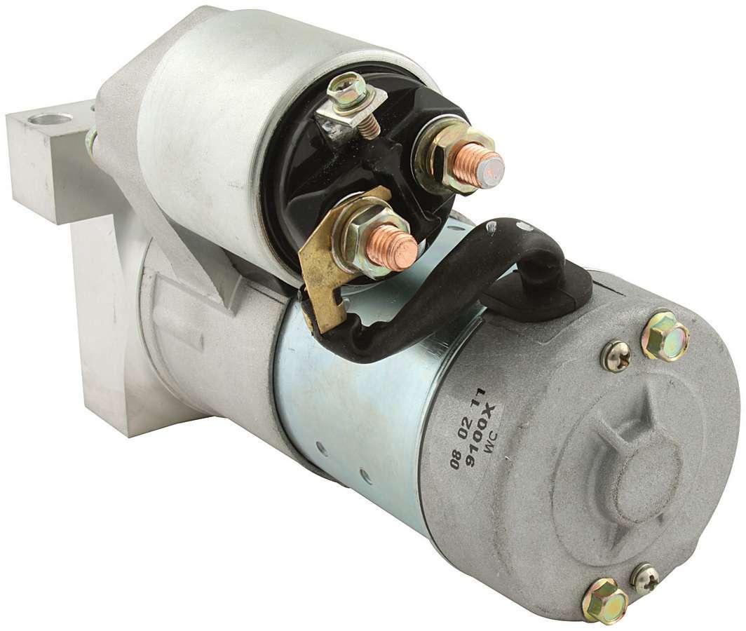 Allstar Performance 80525 Starter, Mini Starter, 3.75:1 Gear Reduction, Black, 153 / 168 Tooth Flywheels, Chevy V8, Each