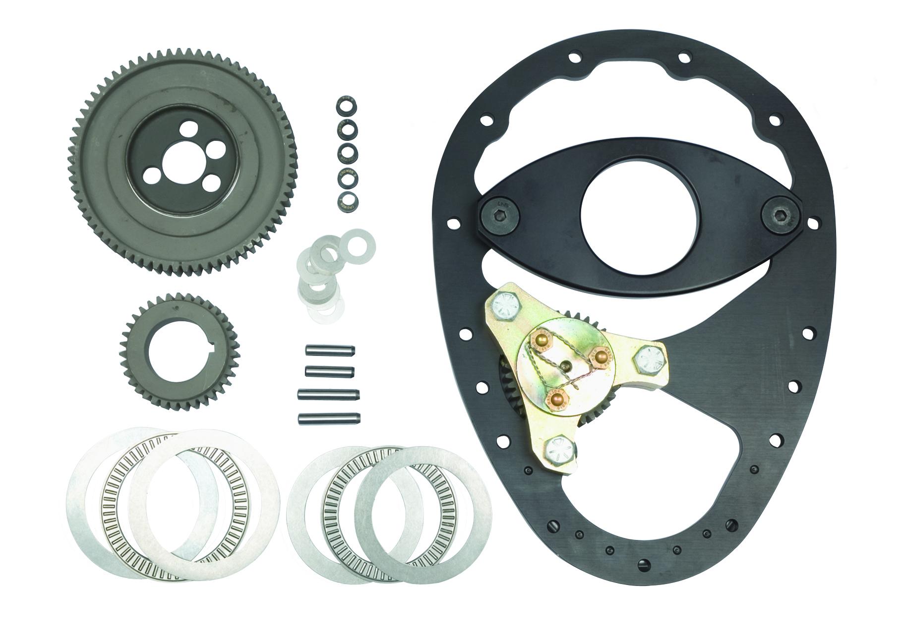 Allstar Performance 90000 Timing Gear Drive, 3 Gear Drive, Fixed Idler Gear, Aluminum Plate / Steel Gears, Small Block Chevy, Kit